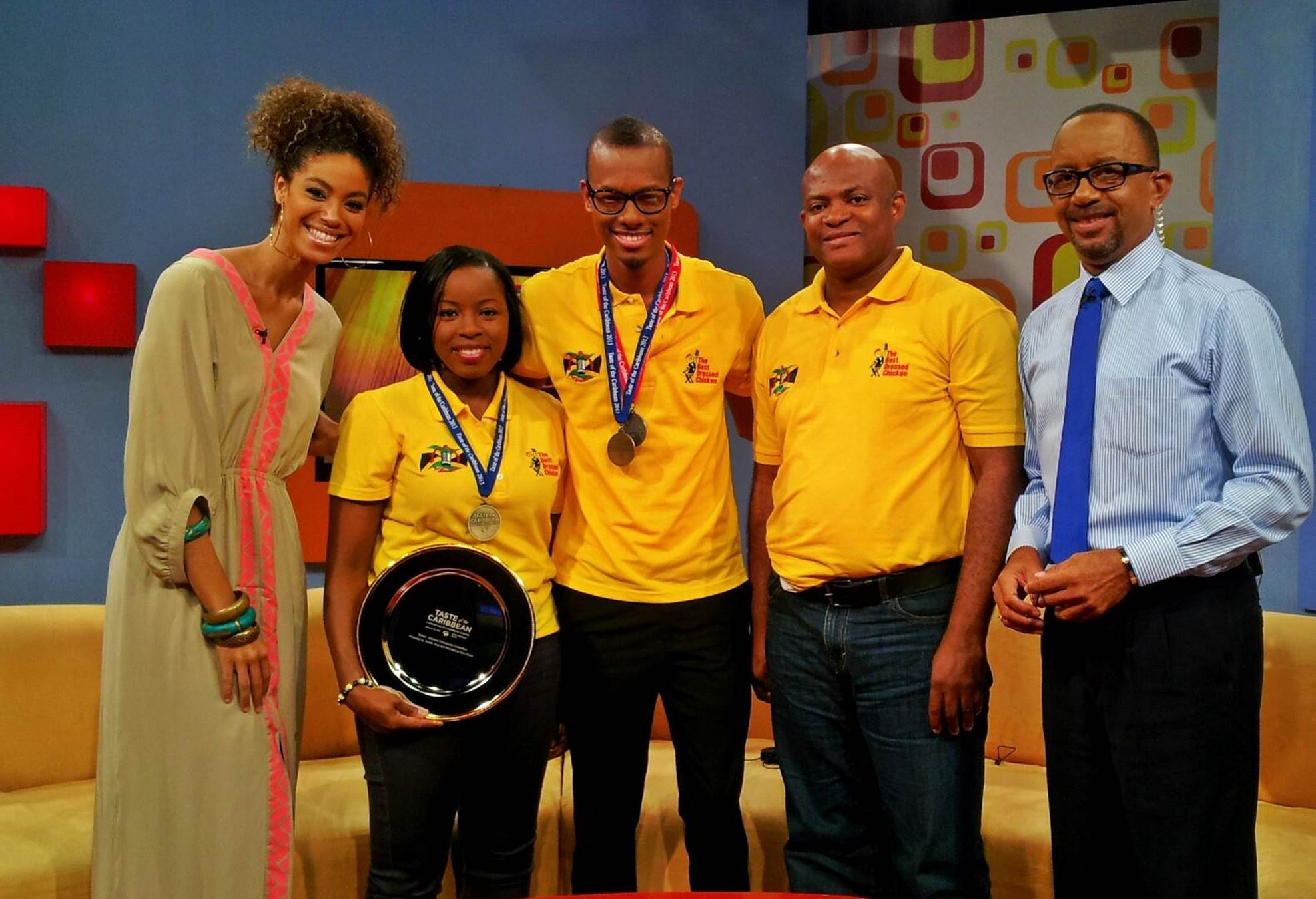 Teresa Clarke and her Jamaican team receive awaed