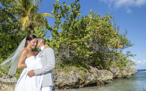 Couples Tower Isle Private Island Wedding