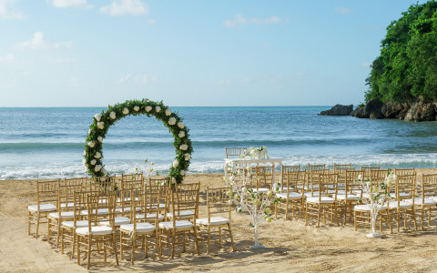 Couples Sans Souci: Private Beach Sunset Ceremony