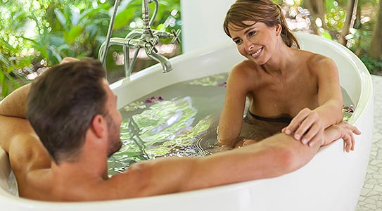 Couple at in a bath